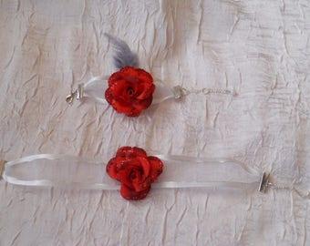Ornament Ribbon red wedding flower