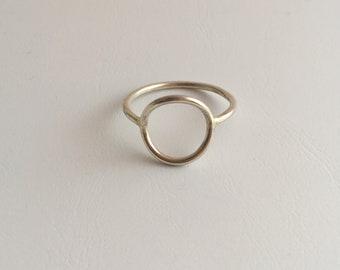 Handmade silver circle ring
