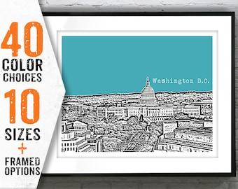 Washington DC Poster Skyline Print Art Capital Building Landscape Item T1384