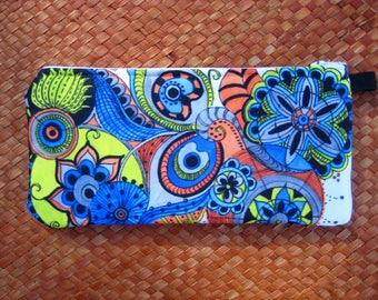 Pencil case, Makeup case, cotton canvas, pencil pouch, small zipper pouch, makeup bag, purse organizer