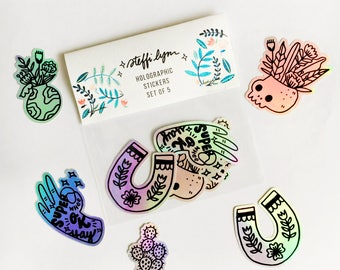 Holographic Stickers - Set of 5