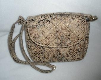 Faux Snakeskin shoulder or crossbody purse