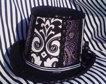 The Tim Burton Steampunk Burlesque Top Hat - (mens version)