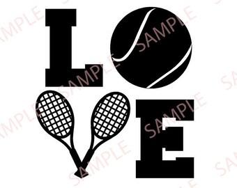 LOVE Tennis svg png jpg digital file