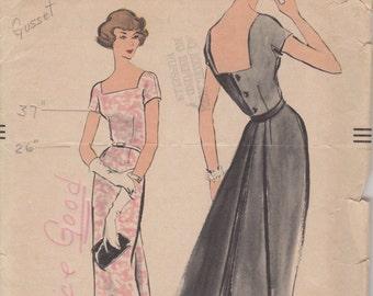 Bust 34-1950's Misses' Dress Vogue 9341 Size 14