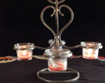 4-Direction Iron/Metallic Candle Holder