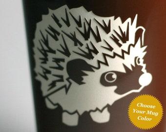 Hedgehog Travel Mug - insulated lidded coffee cup