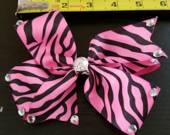 Blawesome Pinwheel style hairbows with alligator clip back.