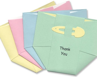 Baby Thank-You Cards - Pastel Diapers - Thank You Notes for Baby Boy and Girl - Baby Rainbow - Cute Baby Cards - Baby Shower Thankyou Cards