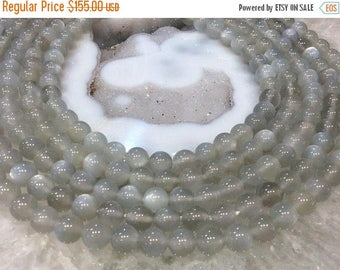 50% Mega Sale 8mm Grey Moonstone Round Gemstone Beads