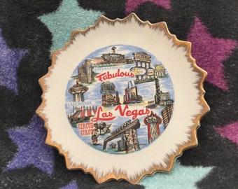 Vintage Las Vegas collectible plate