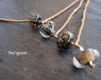 NES'spoon necklace Lampwork