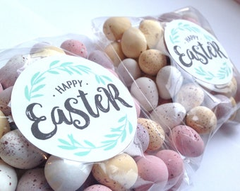 Easter Gift labels, Personalised easter stickers, Happy Easter Stickers, Happy Easter Labels, Easter stickers, Easter favour labels 260