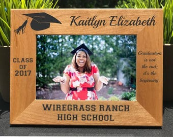 Graduation // Personalized Engraved Photo Frame // Class of 2018 // High School // College // University // Graduate School // Elementary