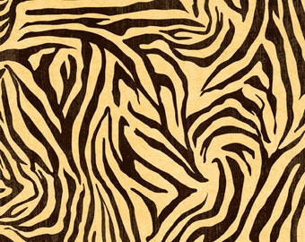 Graphic 45 Fabric, Animal Print, Wilmington, Zebra Fabric  - Jungle Fever Fabric, Tropical Travelogue, 85543 199W Ivory/Black - 1/2 yard