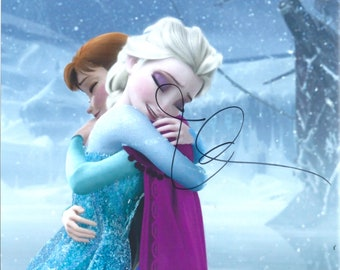 Idina Menzel signed Elsa Frozen 8x10 photo - In Person Exact Proof - Broadway