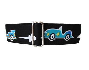 Race Car Martingale Dog Collar, Race Car Dog Collar, 1.5 Inch Martingale Collar, Indy Car Dog Collar, Greyhound Collar, Large Dog Collar