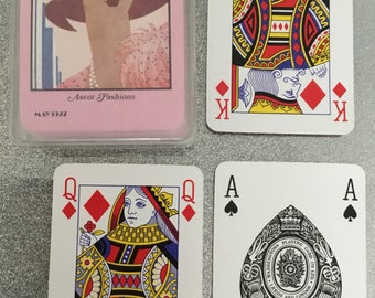 Vogue, Plastic coated playing cards. Plastic boxed.
