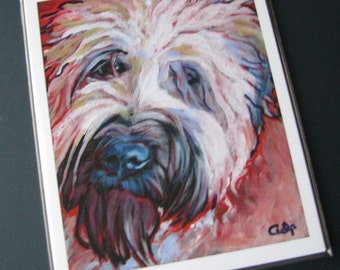 WHEATEN TERRIER Dog 8x10 Signed Art Print from Painting by Lynn Culp