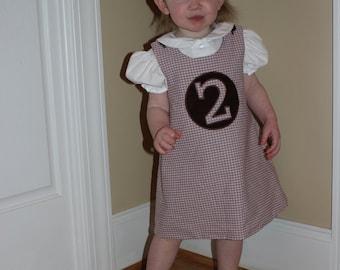 Girl's Reversible A-Line Dress