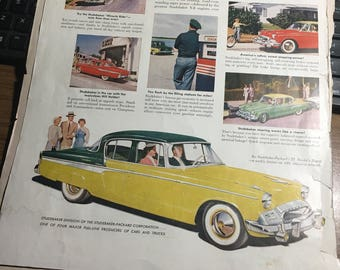 1955 Advanced 55 Studebaker ad large 10x14.