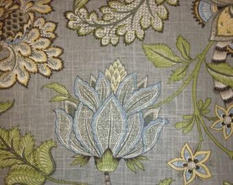 Valance Floral Valance Kaufmann Clarice Dove Curtain Valance Grey Floral Valance Curtains ONE