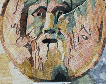 Abstract Deep Face Tile Stones Marble Mosaic FG916