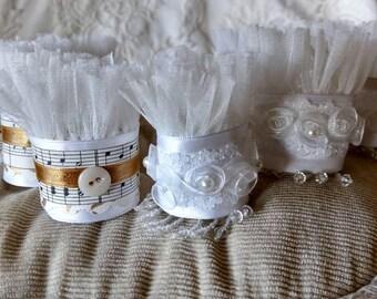 Ronds de serviette à la main, pour mariage, shower de mariage ou les fêtes