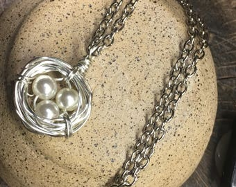 Necklaces Birds nest wire wrapped Necklace