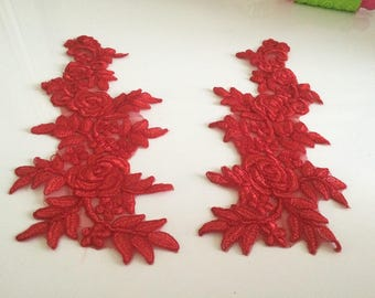 Applique sewing 34 * 14 cm Red