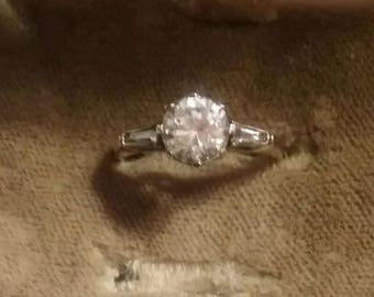 Edwardian Era Engagement Ring Antique Paste Engagement Ring