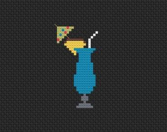 Blue Lagoon cross stitch pattern digital download