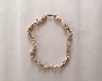 1950s schells choker necklace || sea shells necklace