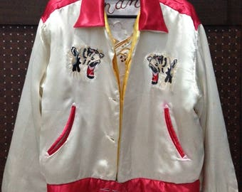 Vintage TORA WAGARA Yokosuka jumper reversible sukajan varsity jacket size L