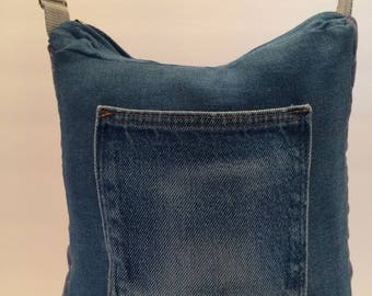 Jeans Pocket Purse with Quilting