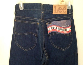 Dead stock NOS Lee rider jeans with tags