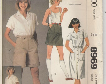 Shorts Pattern Skirt the gap 1984 Misses Size 8 Waist 24 McCalls 8969  Cut and Complete