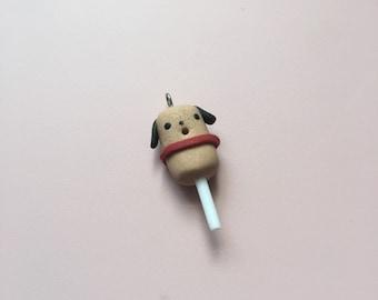 Corn Dog Polymer Clay Charm