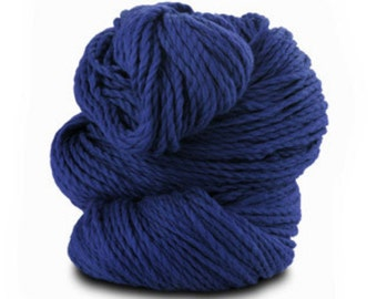 Organic Cotton Yarn Worsted, 150 Yards, Indigo