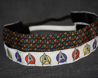Star Trek Inspired Non-slip Headband - Mini Insignia, Large Insignia
