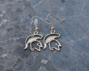 Michigan State Spartans Earrings MSU Sparty