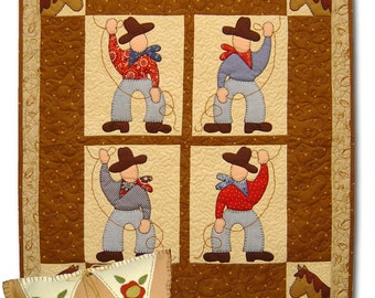 Ropin' Cowboys Quilt Pattern by Cleo and Me