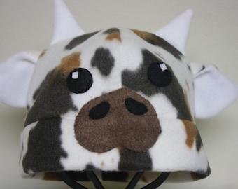 Cow Fleece Hat