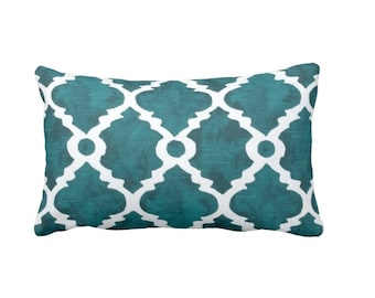 Teal Throw Pillow Cover Teal Pillow Cover Moroccan Pillow Cover Teal Blue Pillow Cover Lumbar Pillows Decorative Pillows for Couch Cushions