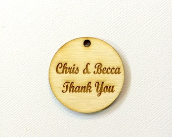 Rustic wedding favor tags thank you tags personalized names