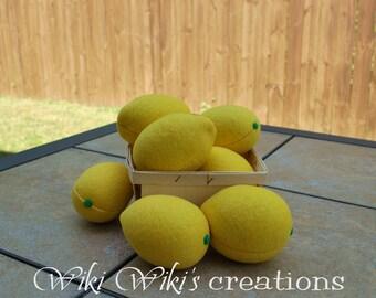Felt Food Lemon