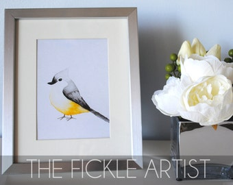 Watercolor Yellow Bird Print