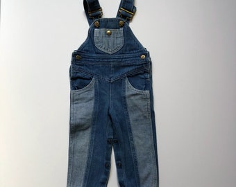 1980's Happy Kids Two Tone Overalls (12 months)