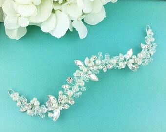 SALE! Wedding hair vine, Rhinestone bridal flexible hair vine, Crystal Vine Comb, bridal hair accessories, Danielle Hair Vine