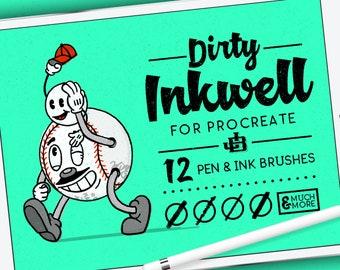 Dirty Inkwell ProCreate Brushes